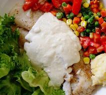 Panga zapiekana w śmietanie pod pierzynką z warzyw
