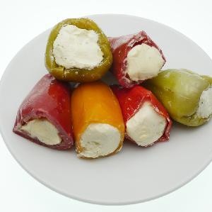 Mini papryczki nadziewane serem i zapiekane [zdrowa, kolorowa przekąska]