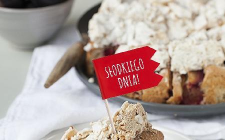 Ciasto śliwkowe z bezą cynamonową