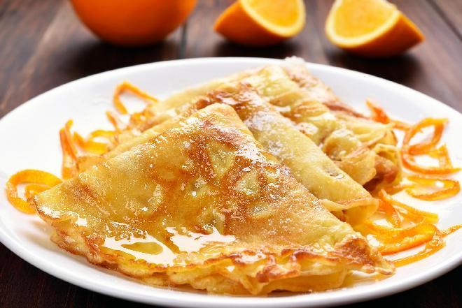 Chrupiące naleśniki pomarańczowo-cytrynowe