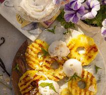 Grillowany ananas z wegańskim zamiennikiem serka śmietankowego