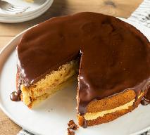 Ciasto DZIDZIUŚ - proste ciasto na kisielu z kremem grysikowym i czekoladową polewą