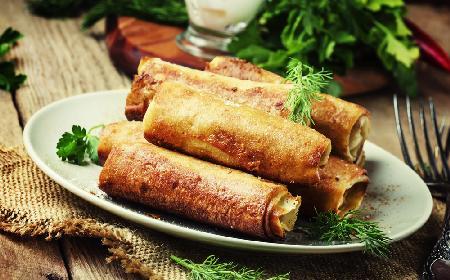 Orientalne naleśniki z kebabem z kurczaka - domowy kebab [GALERIA PRZEPISÓW+QUIZ]